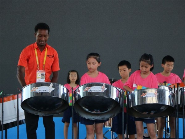 Drummers from Trinidad and Tobago visit Yilan under the auspices of the 2017 grants program.