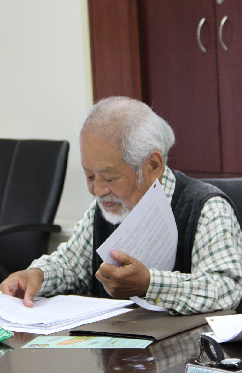 2018年10月11日擔任台灣文學奬評審近照