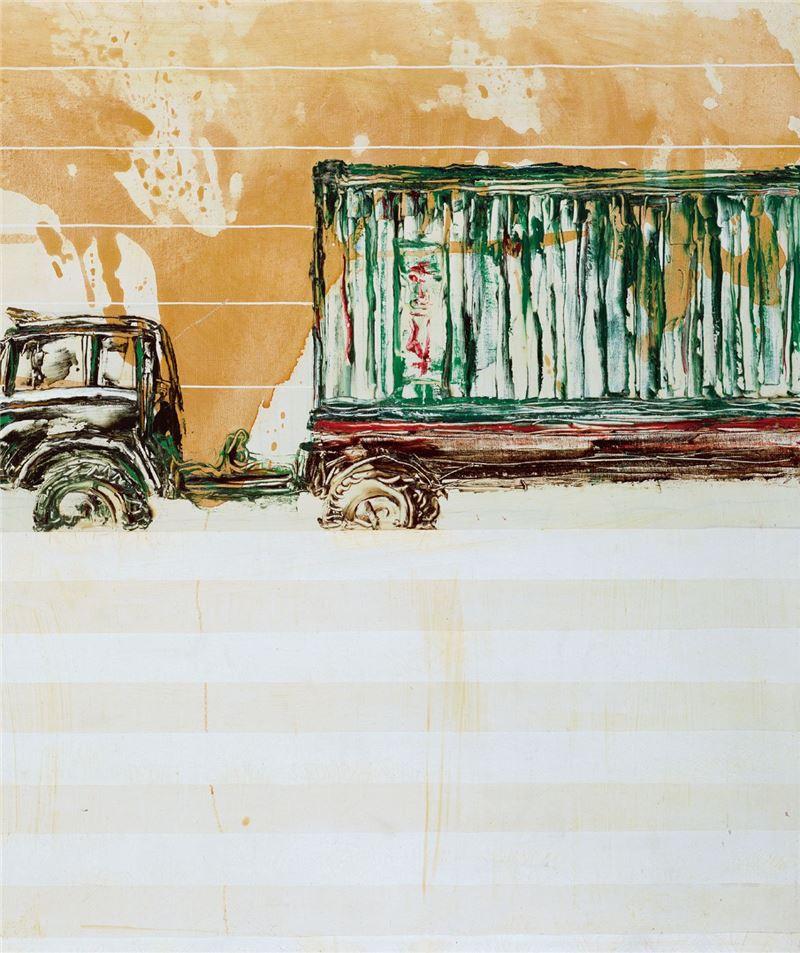 陳水財〈卡車之二〉局部圖