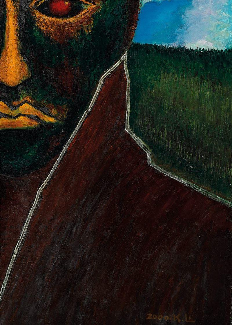 Lin Jia-yan〈Self-portrait〉Detail