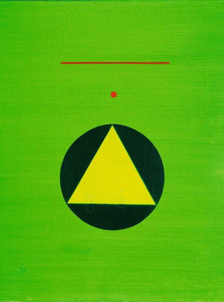 霍剛〈無題〉2001 油彩、畫布 98.5×78.5 cm