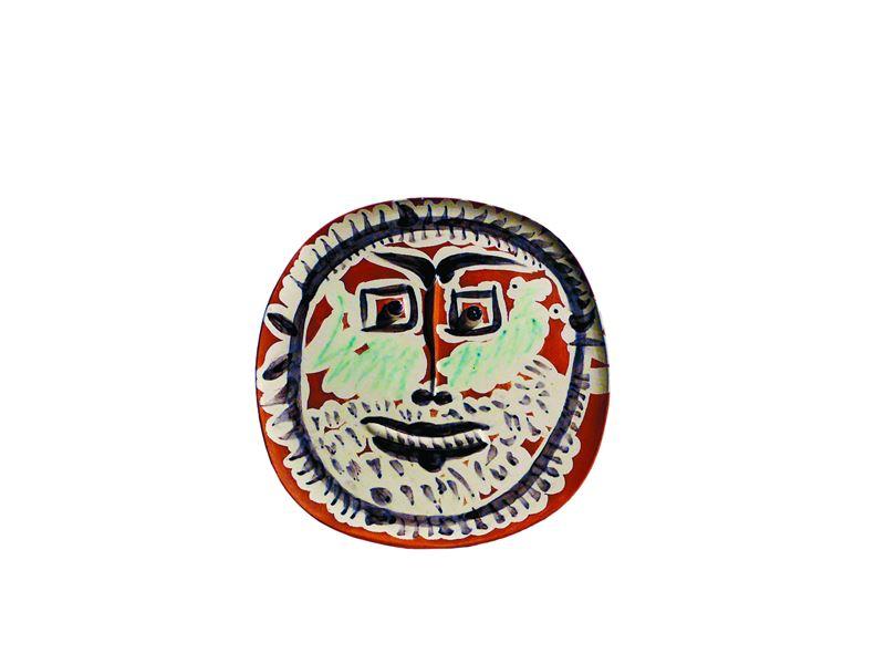 畢卡索-1959,有方眼的臉