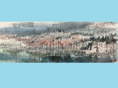 台灣美術院十週年院士大展─江明賢─馬爾他古城,2016,墨彩