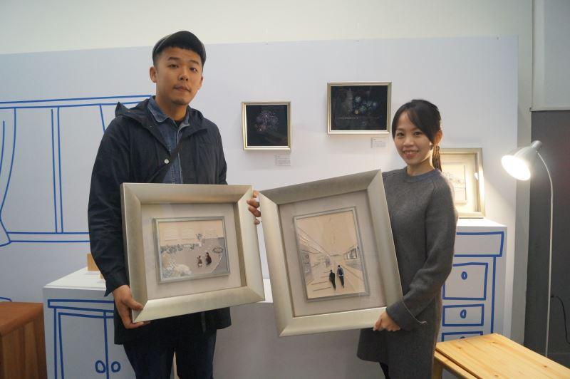 工藝家顏妤如入選德國Talente_2020競賽,與指導老師李嘉泉合影