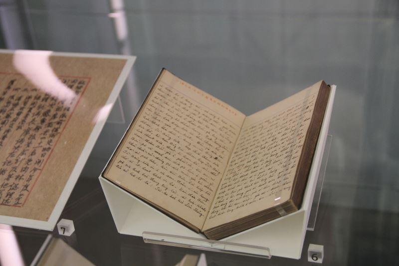 第一次展出的《蔡培火日記》