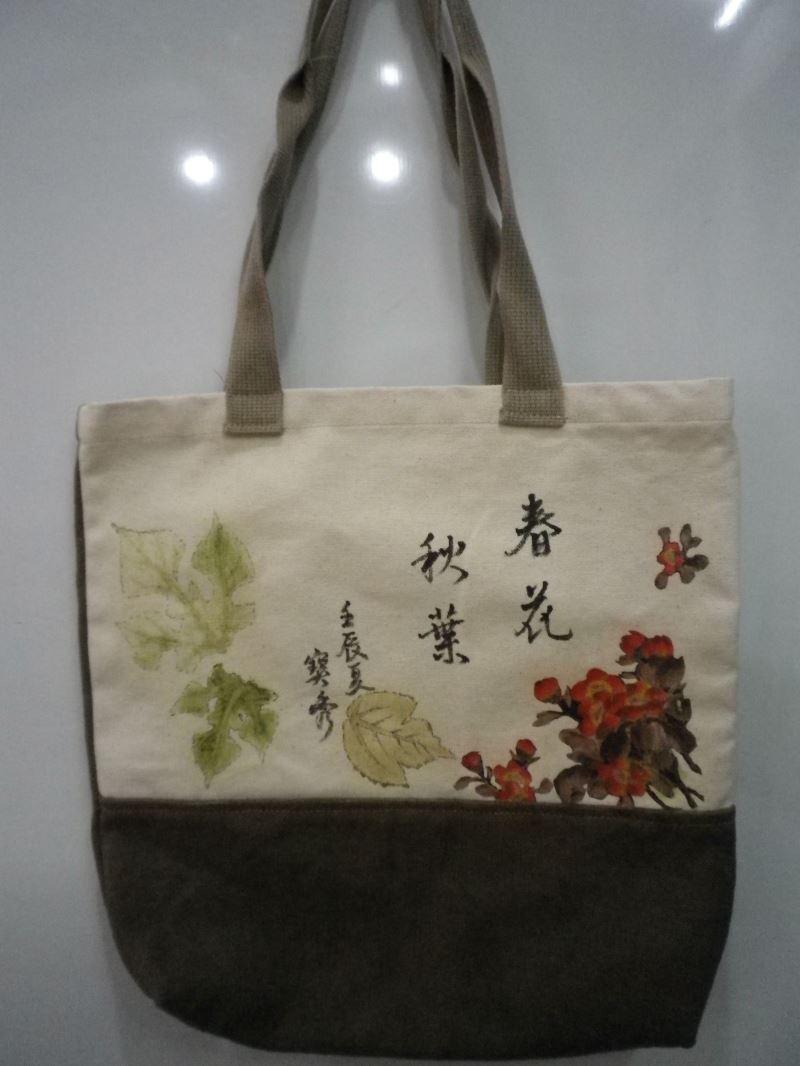 生葉拓染提袋