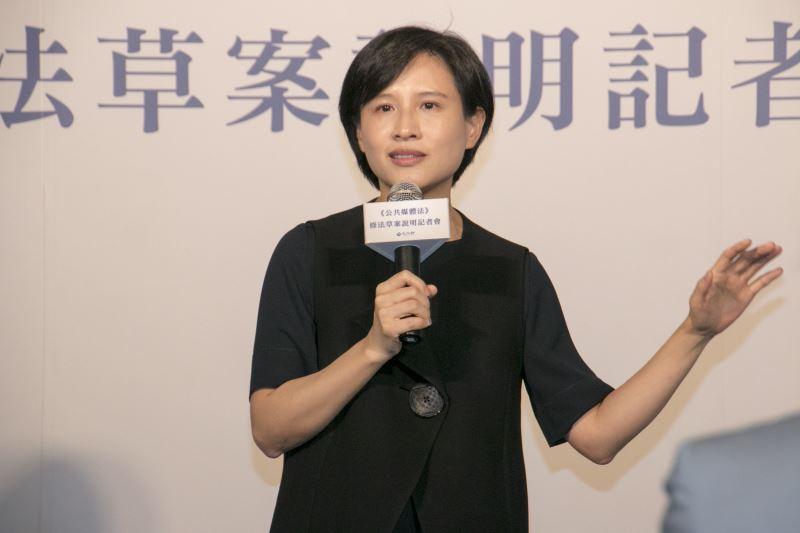 文化部長鄭麗君期許透過《公共媒體法》打造未來的新公媒,成為亞洲新興的公共媒體。