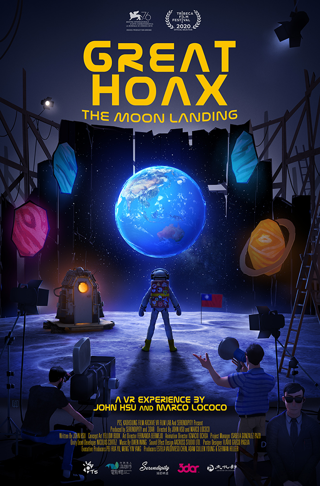 GREAT HOAX: THE MOON LANDING, directed by Director John Hsu, is also selected by the Tribeca Immersive: Virtual Arcade program.