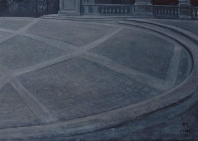 陳景容〈羅馬廣場(一)〉局部圖