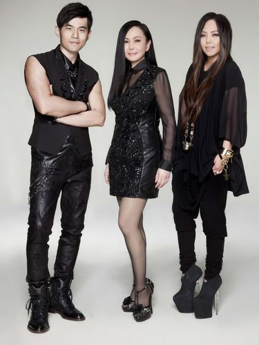 The three Golden Melody ambassadors (from left to right): Jay Chou, Jody Chiang, and A-mei.