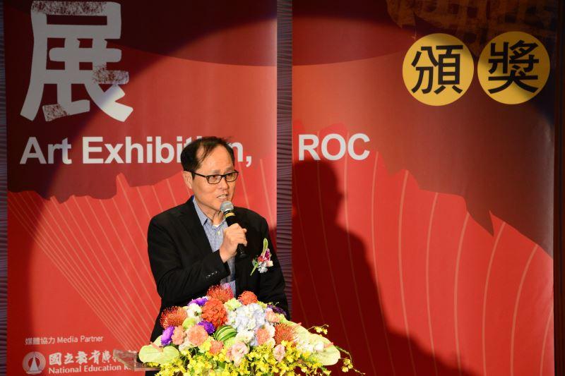 評審團代表蘇憲法老師致詞