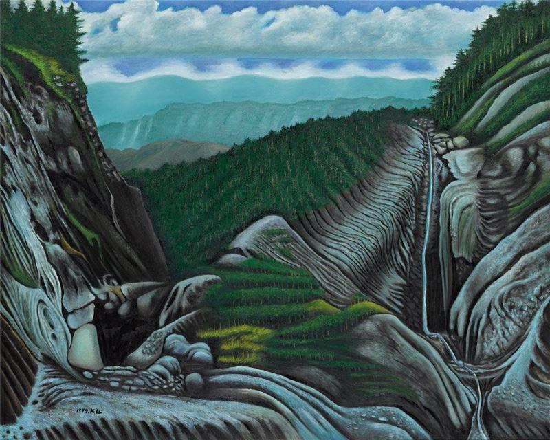 林加言〈細水長流〉1999 油彩、畫布 130×162 cm