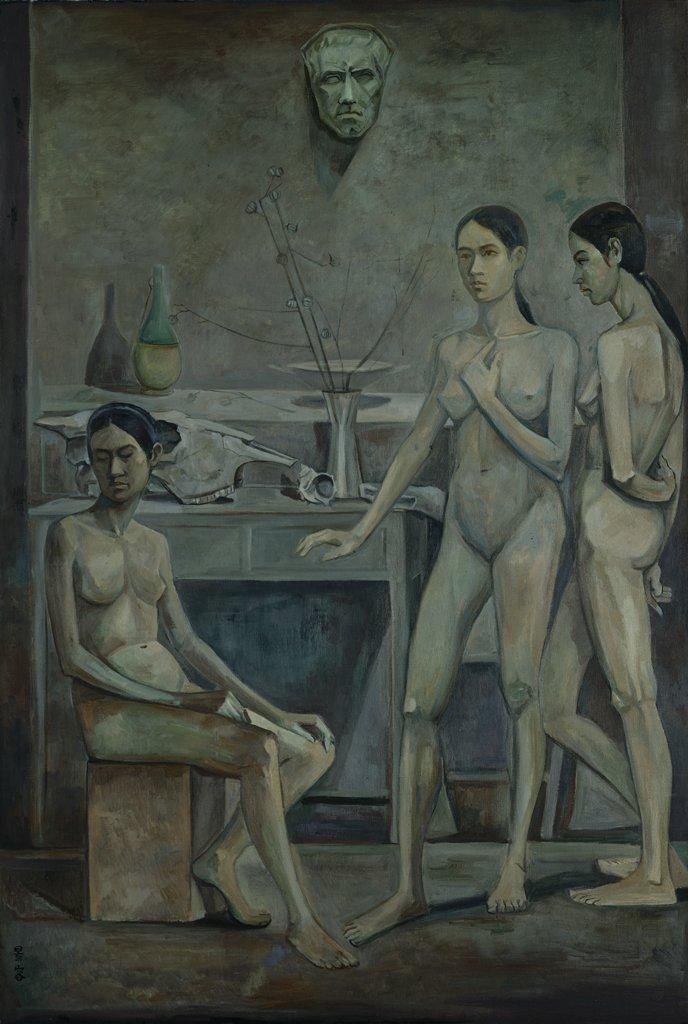 陳景容〈午夜〉1972 油彩、畫布 193×130 cm