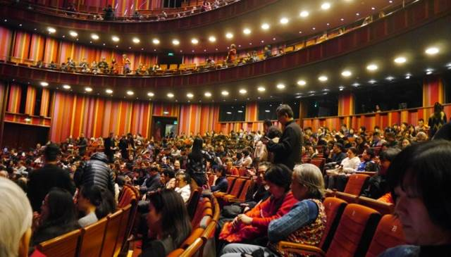 梁祝演出現場觀眾滿座盛況