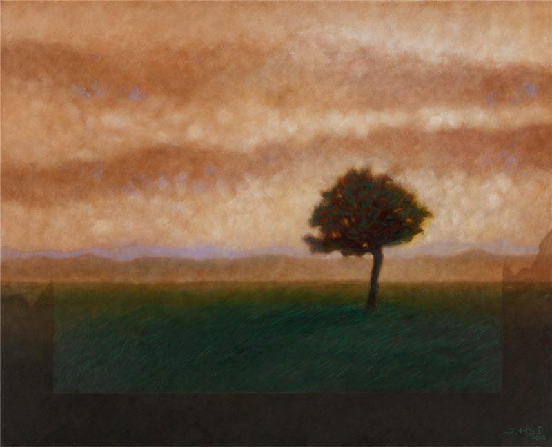 席慕蓉〈心中的樹〉局部圖