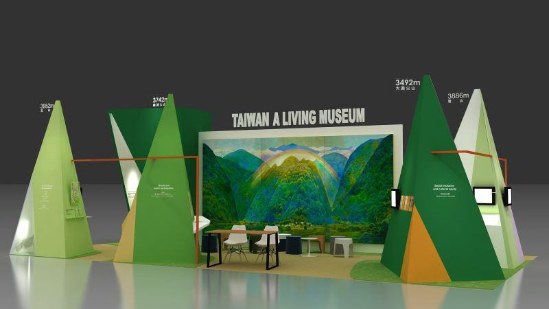 圖2_ICOM2019臺灣主展館以「博物之島」為概念設計