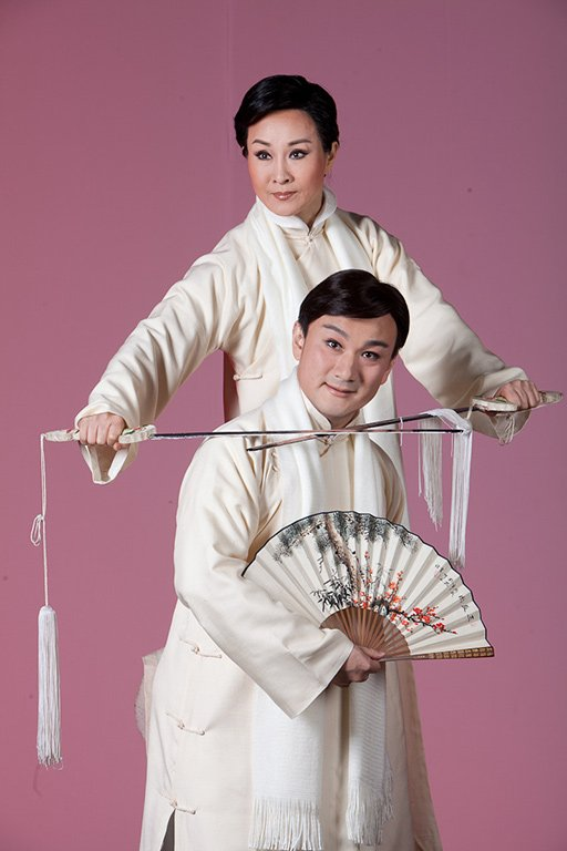 Promotional photo from One Hundred Years on Stage(Wei Hai-min as Ru Yue-han, Wen, Yu-hang as Hua Zheng)(2011)
