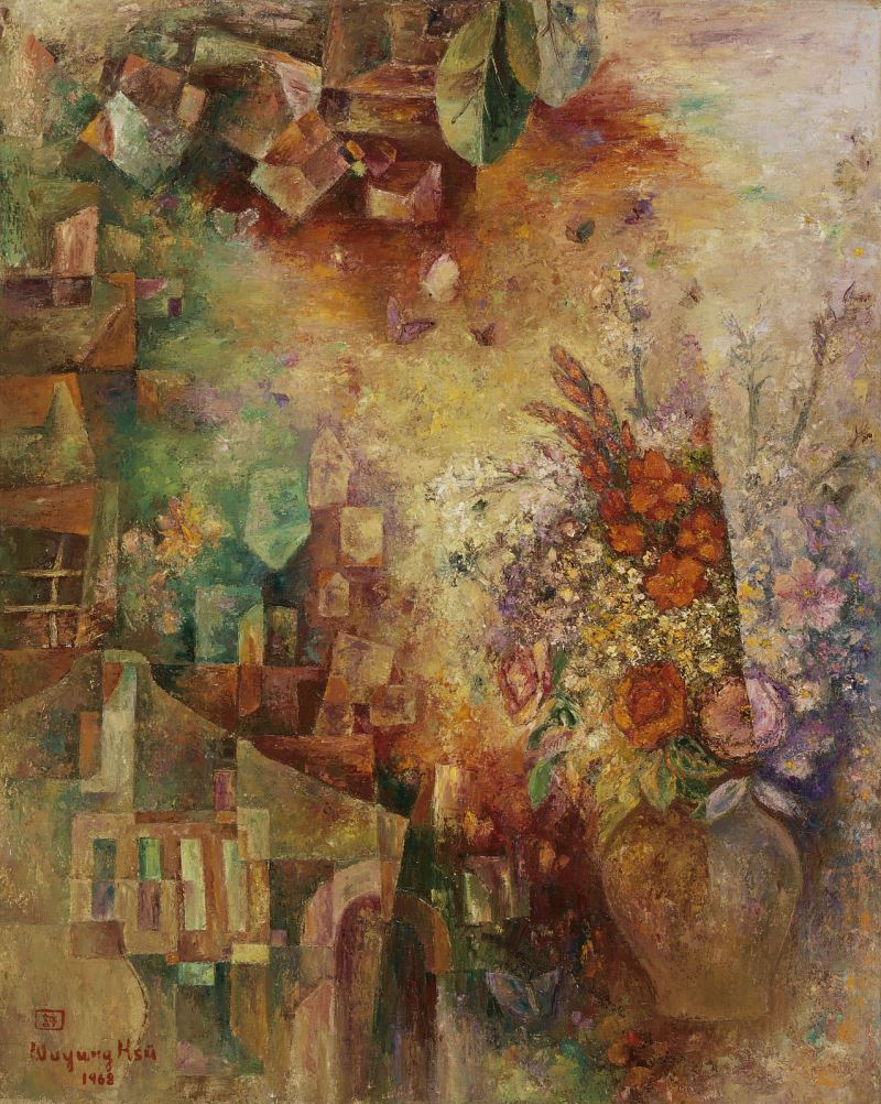A Rural Village and Flowers (1968)