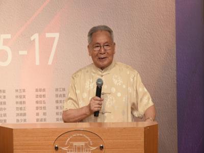 臺灣國際水彩畫協會榮譽理事長羅慧明教授致詞.