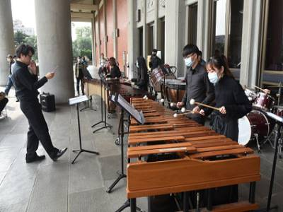 國立臺灣藝術大學打擊樂團表演
