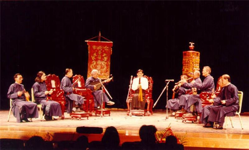 The Taipei Hua-sheng Naguan Music Club performs at Folk Art Concert.