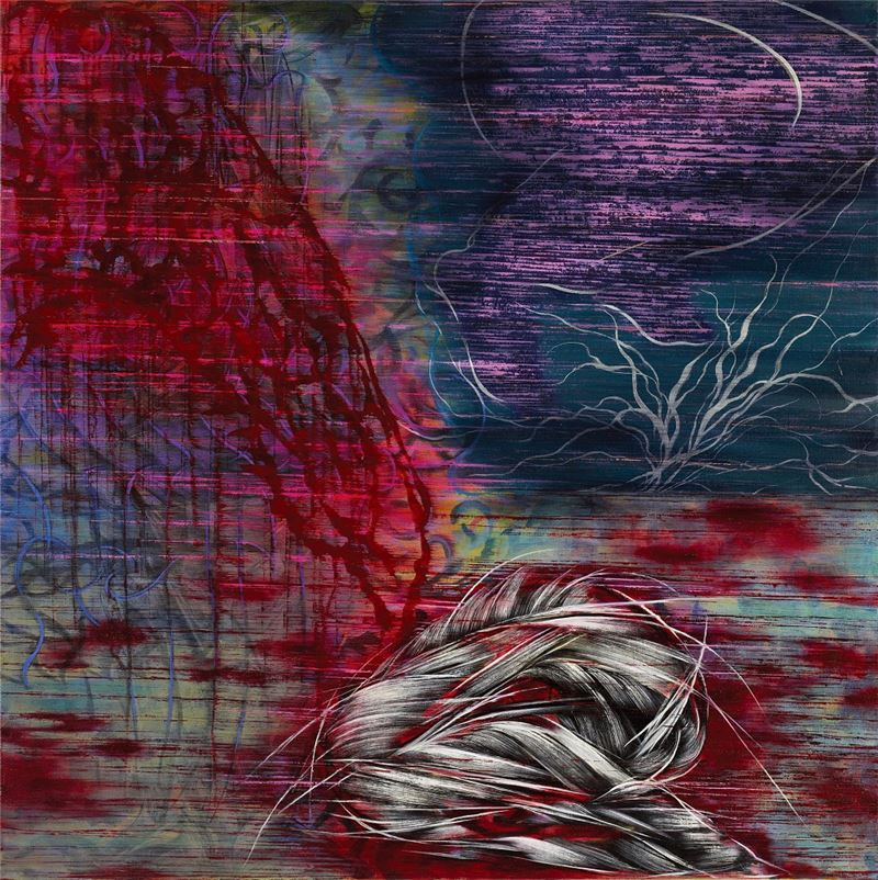 謝鴻均〈叢殘錄〉2010 油彩、畫布 173×173 cm