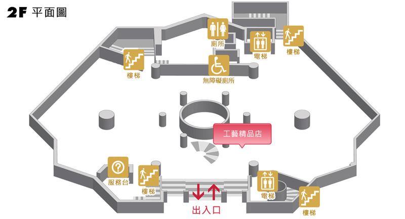 臺北分館二樓平面圖