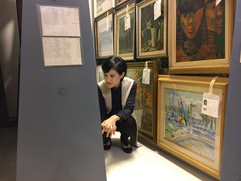 鄭麗君部長參觀順天美術館
