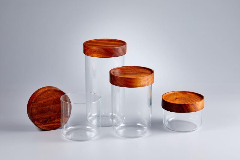 機能獎-TG-台灣相思木玻璃儲物罐