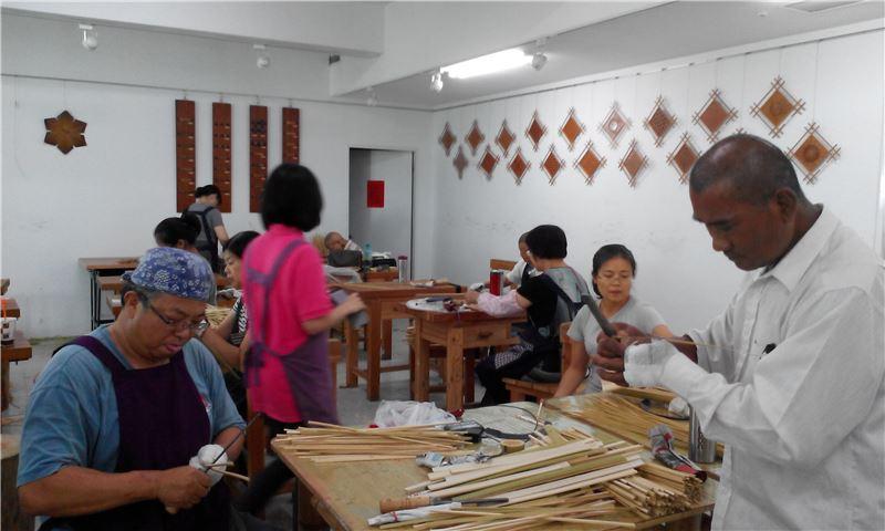 竹藝工藝基礎班-竹材基本技法鋸切練習