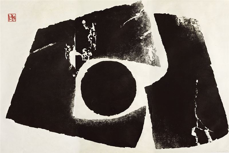 Chen Ting-shih〈Hibernation〉1969 Llipboard relief print 120×180 cm