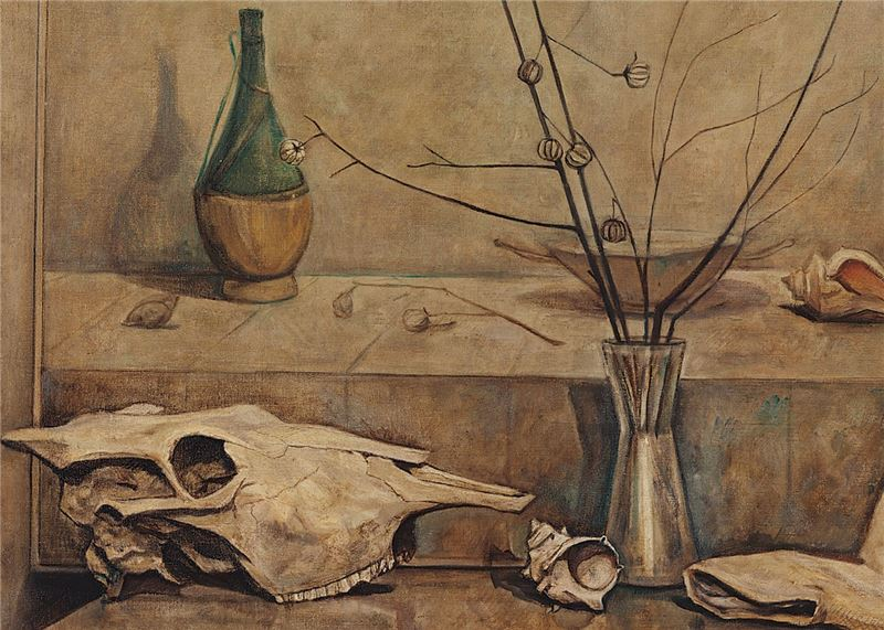 Chen Jing-rong〈Still Life with a Cow Skull〉Detail