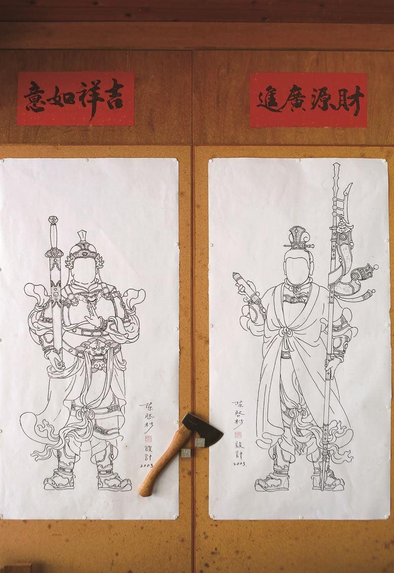 趙元帥(左)與高元帥(右)設計圖。