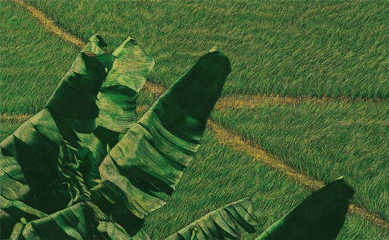 HUANG Ming-Chang〈Breezing over Banana Trees (Paddyfield Series)〉Detail
