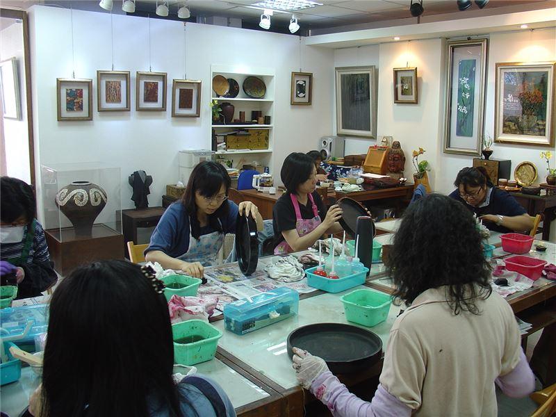 漆藝工藝基礎班-變塗技法實際操作練習