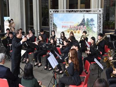 活動啟動儀式由中國文化大學管樂團擔綱演出