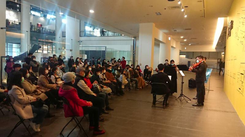 國美館今舉辦「經典再現」週日午後音樂會,由NTSO台灣青年交響樂團的_弦樂四重奏喚醒台灣繪畫之美_(2)