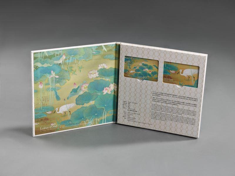 國美館首度與悠遊卡公司合作,推出國寶林玉山〈蓮池〉悠遊卡