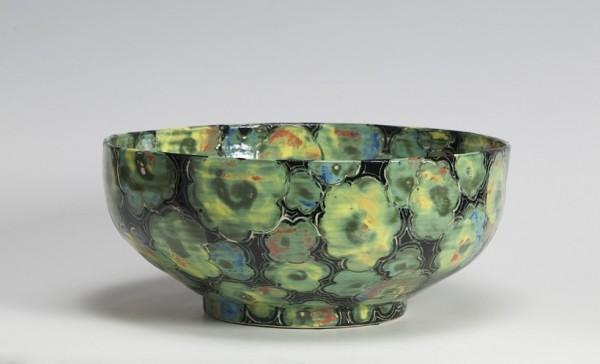 2010 | Black Glazed Bowl with Burnished Flower Pattern