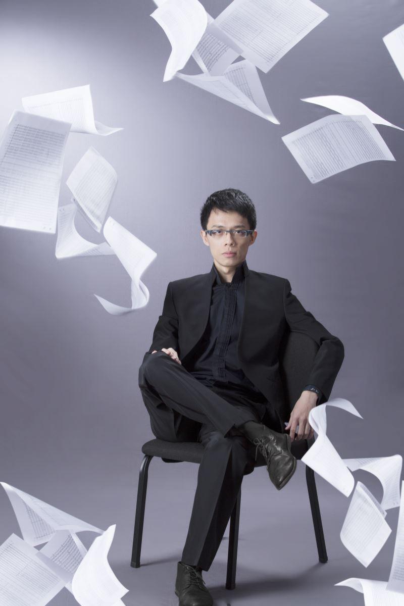 圖4:臺灣國樂團藝術經理、著名作曲家王乙聿重新改編《北管風》合奏曲,作為本次兩團合演的壓軸曲目(圖為王乙聿)。