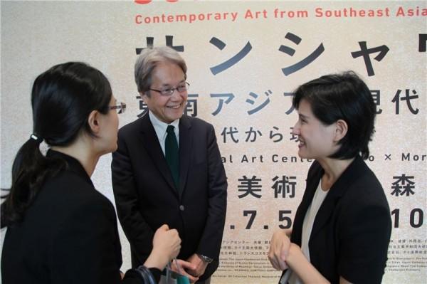 Hideki Hayashida (青木保), director-general of National Art Center, Tokyo.