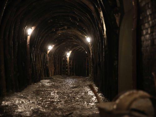 徳興炭坑。作業員によると坑道はコウモリのすみかになっており、手のひらサイズのコウモリが目撃されたこともあるという