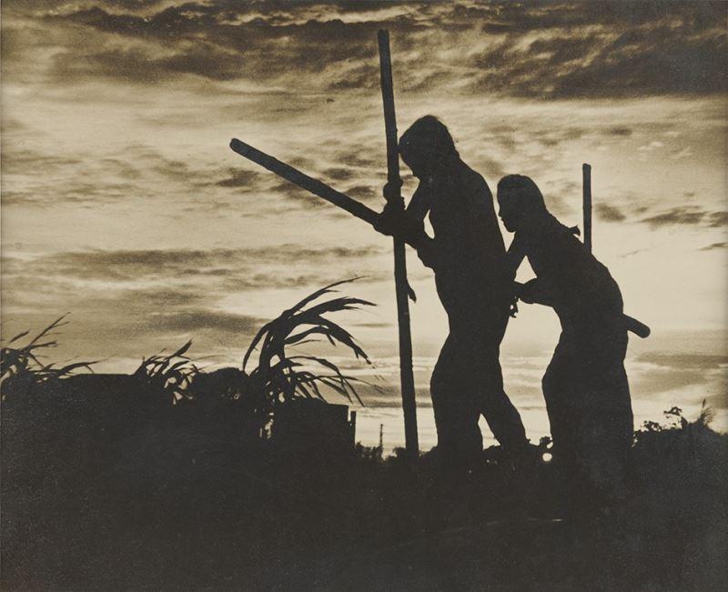 秦凱〈水車〉1939,紙質,24.2x29.2cm_c國家攝影文化中心