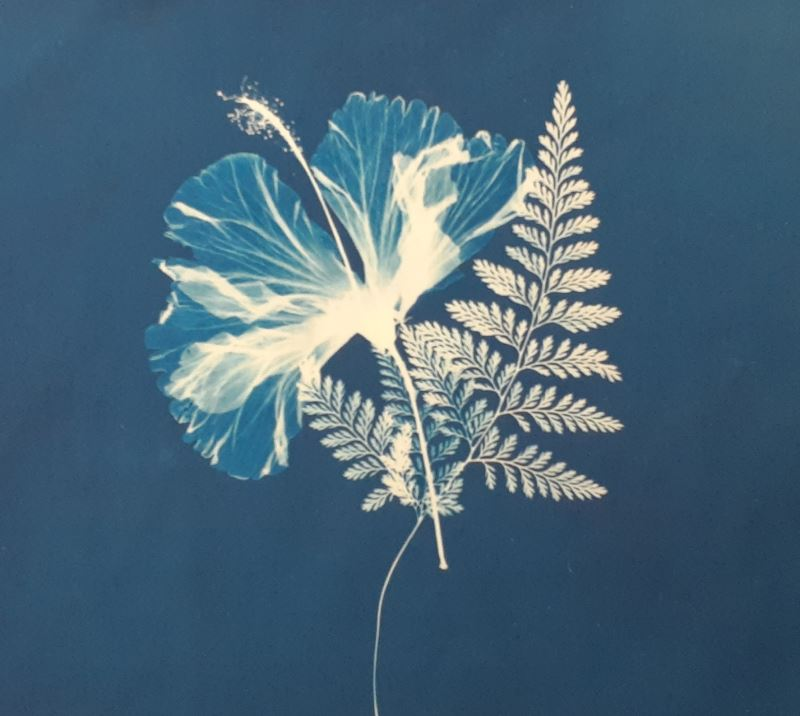 藍晒方巾成品01
