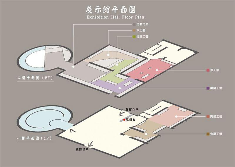 傳藝宜蘭園區展示館平面圖