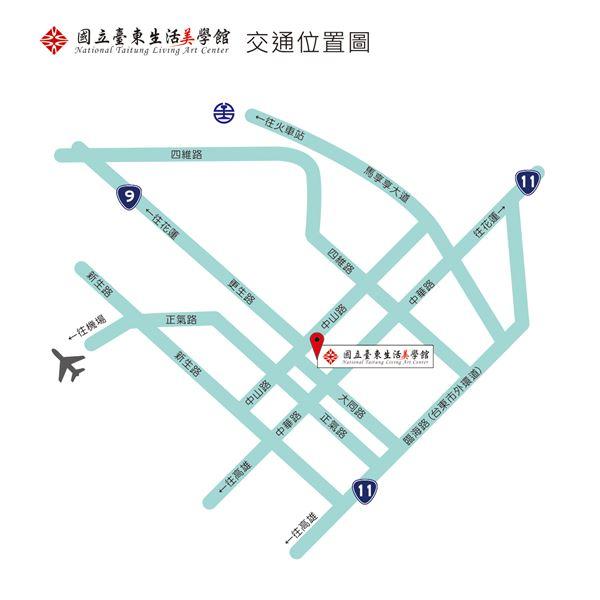 臺東生活美學館地圖