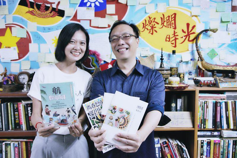 燦爛時光東南亞書店主持人張正(右)