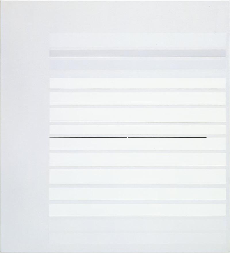林壽宇〈第一個夏天1969年〉1969  油彩、畫布  112×101.5 cm
