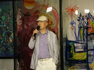 臺灣五月畫會吳柳理事長致詞。