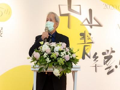 中部美術協會榮譽理長倪朝龍教授代表評審團致詞